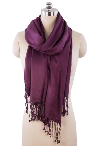 Lorelai Satin Viscose Scarf - Purple