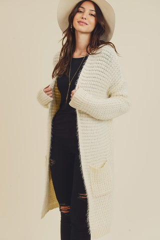 Knitted Detailed Cardigan