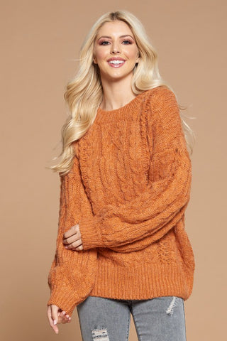 Fuzzy Oversized Knit Sweater