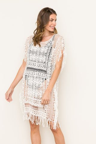 Yvonne Crochet Tunic Dress