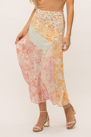 Alondra Mix Maxi Dress