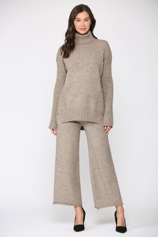 Alanis Turtleneck Sweater - Mocha