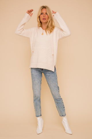 Tibby Cashmere-Feel Hooded Sweater
