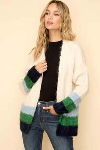 Teddy Cashmere-Feel Cardigan Sweater