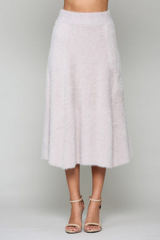 Stephanie Faux Cashmere Skirt - Lavender