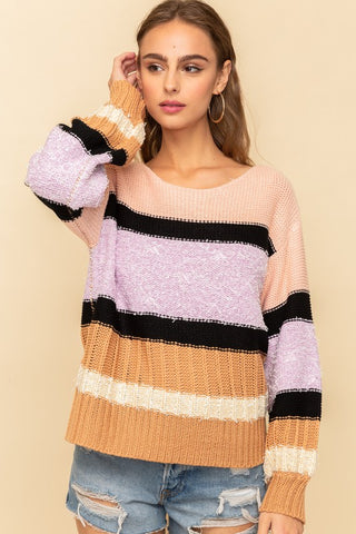 Misty Cashmere-Feel Crewneck Sweater