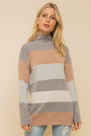 Emily Cashmere-Feel Turtleneck Sweater