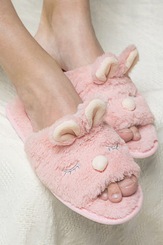Soft Cute Animal Open Toe Slippers