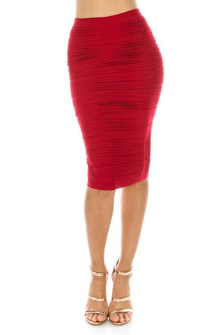 Magic Skirt Cranberry Red