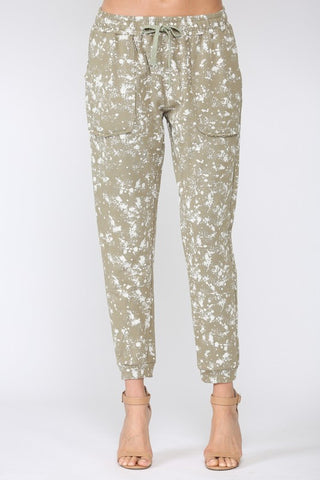 Jeanine Paint Splatter Jogger Pants