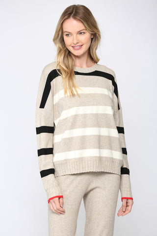 Donnie Cashmere-Feel Knit Sweater