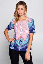 Multi Color Paisley Blouse