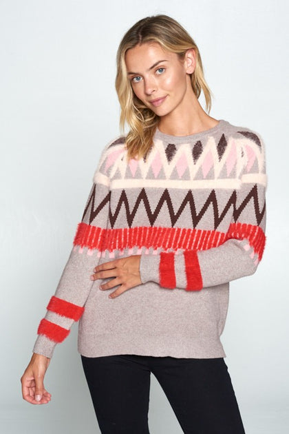 Lucy Candy-Cane Sweater