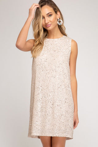 Marilyn Sequined Shift Dress