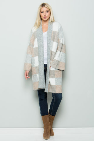 Toni Cardigan Sweater - Taupe