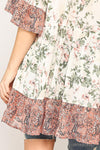 Melody Mixed Floral Tunic Top