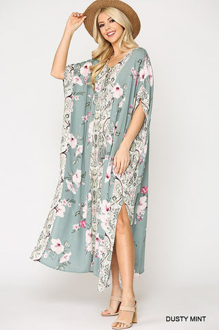Molly Mixed Floral Printed Maxi Dress
