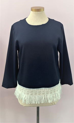 3/4 Sleeve Fringe Top