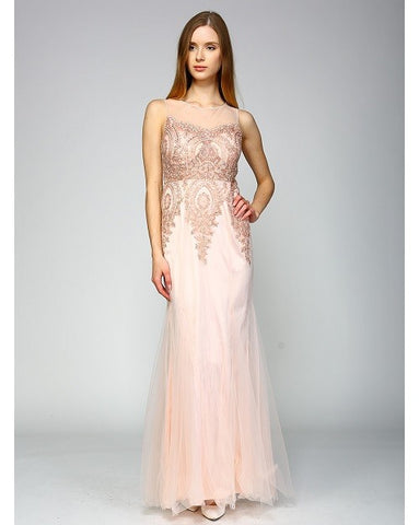 Blush Mermaid Gown