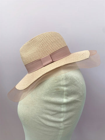 Blush Fedora Hat