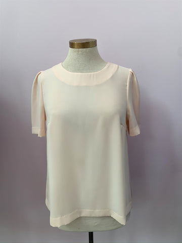 Back Button Cap Sleeve Top