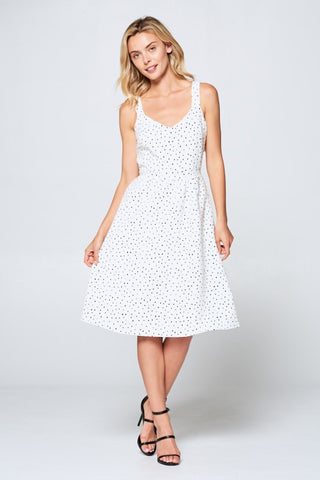 Everything Dots Dress with Back Tie