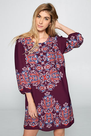Purple Haze Paisley Dress
