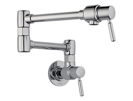 POTFILLERS EURO POT FILLER - WALL MOUNT CHROME