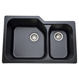 Allia Fireclay 2 Bowl Undermount Kitchen Sink