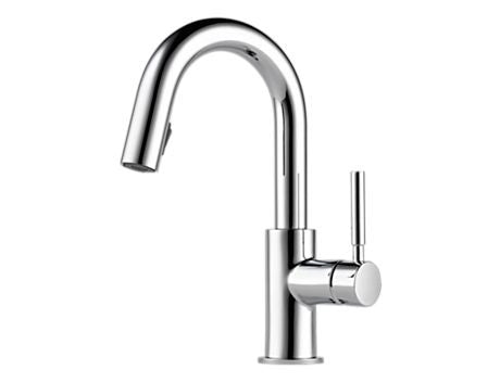SOLNA SINGLE HANDLE PULL-DOWN BAR/PREP FAUCET CHROME