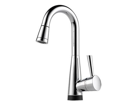 VENUTO SINGLE HANDLE PULL-DOWN BAR/PREP FAUCET WITH SMARTTOUCH® TECHNOLOGY CHROME