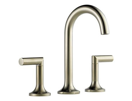 BRIZO JASON WU TWO HANDLE WIDESPREAD LAVATORY FAUCET BRILLIANCE BRUSHED NICKEL