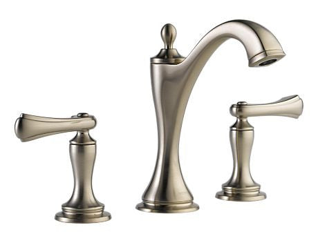 BRIZO CHARLOTTE TWO HANDLE WIDESPREAD LAVATORY FAUCET - LESS HANDLES BRILLIANCE BRUSHED NICKEL