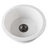 Allia Fireclay Round Single Bowl Bar/Food Prep Sink