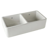 Shaws Original Two Bowl Fireclay Apron Kitchen Sink