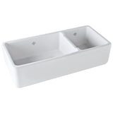 Shaws Original 1 1/2 Bowl Fireclay Apron Kitchen Sink