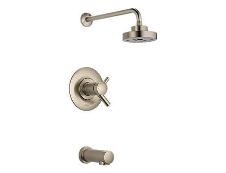 BRIZO ODIN BAÑERA DUCHA - FLUJO MEDIO BRILLIANCE BRUSHED NICKEL