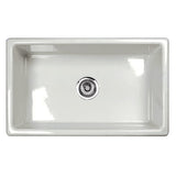 Shaws Classic Single Bowl Modern Undermount Fireclay Kitchen Sink