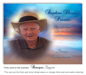 Beach Sunset Photo Memorial Magnet