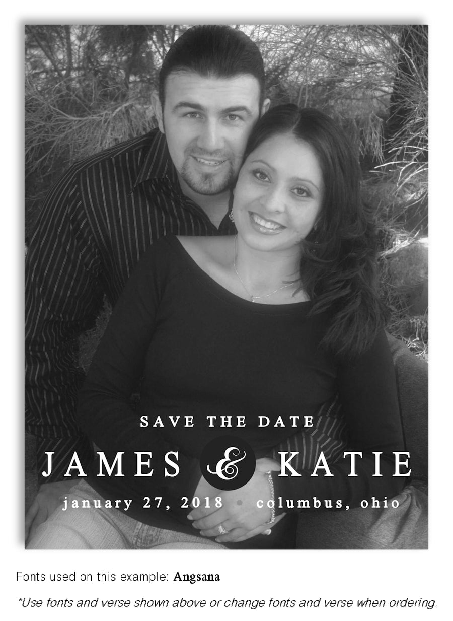 Color Save the Date Wedding Photo Magnet