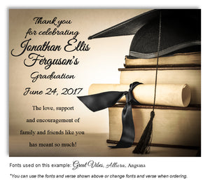 Tan-Black Book Smart Thank You Graduation Magnet
