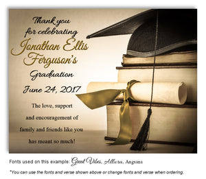 Tan-Gold Book Smart Thank You Graduation Magnet