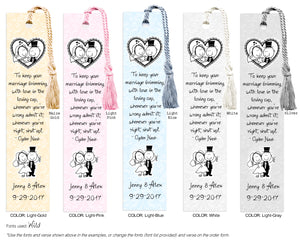 Cartoon Wedding Bookmark