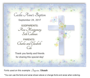 Denim Blue Invitation Baptism | Christening Magnet