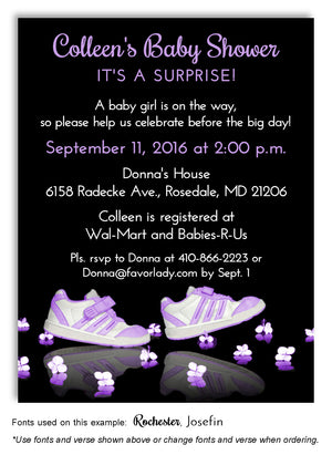 Steppin' Out Orchid Baby Shower Invitation Magnet