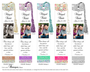 Paisley Photo Anniversary Bookmark
