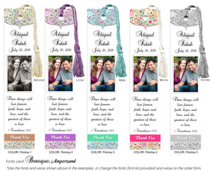 Paisley Photo Wedding Bookmarks - 1