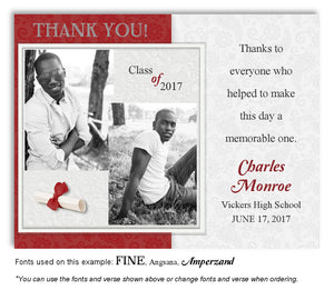 Red Thank You Photo Graduation Magnet