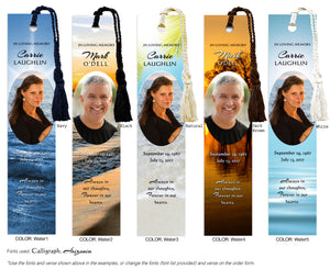 Water Scene Memorial Photo Bookmark (Book Marks)