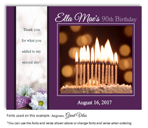 Dark Orchid Cake Thank You Birthday Magnet